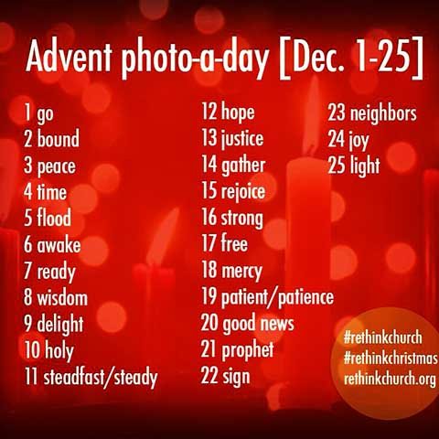 Photo-A-Day Challenge from UMC's Rethink church campaign