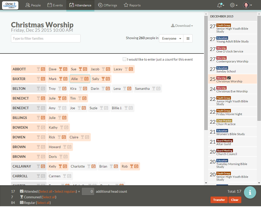 Tracking individual worship attendance can be tedious, but it is really worth the effort.