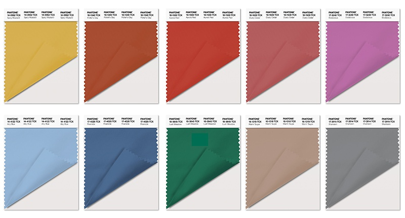 Pantone's 2016 Fall Colors