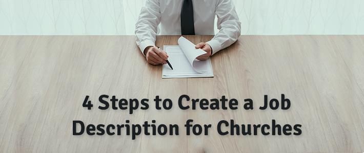 4 Steps to Create a Job Description for Churches