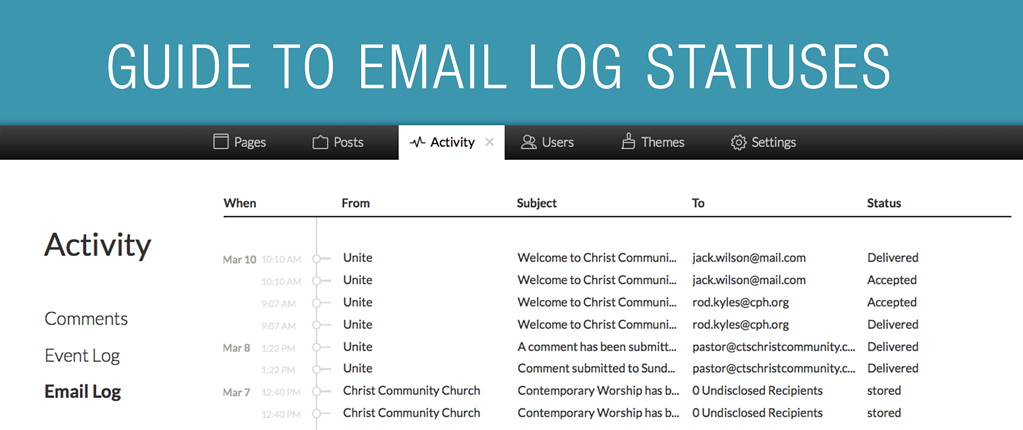 Guide to Email Log Statuses