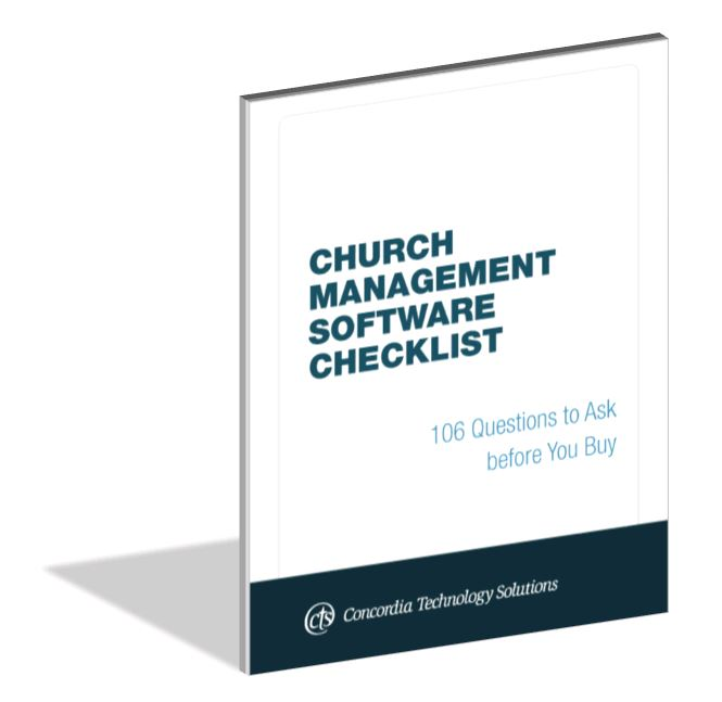 Church Management Software Checklist
