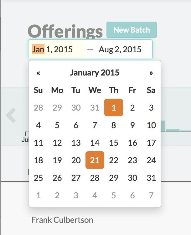 July Updates Offerings Date Picker Church360 Members