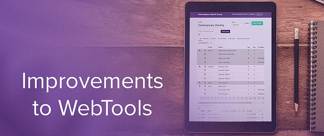 Improvements to WebTools