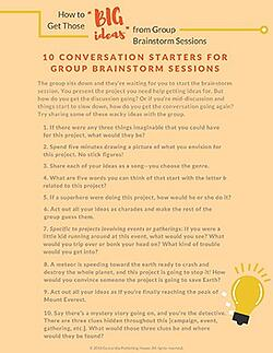 List- How to Get Those Big Ideas from Group Brainstorm Sessions