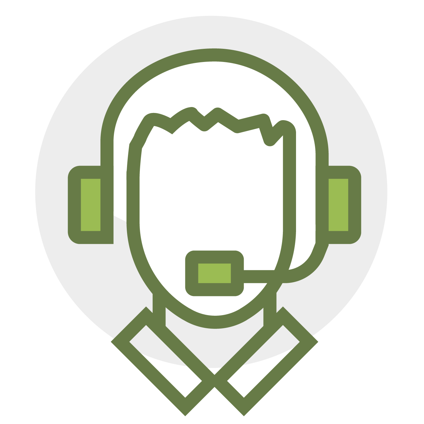 Icon for support and training