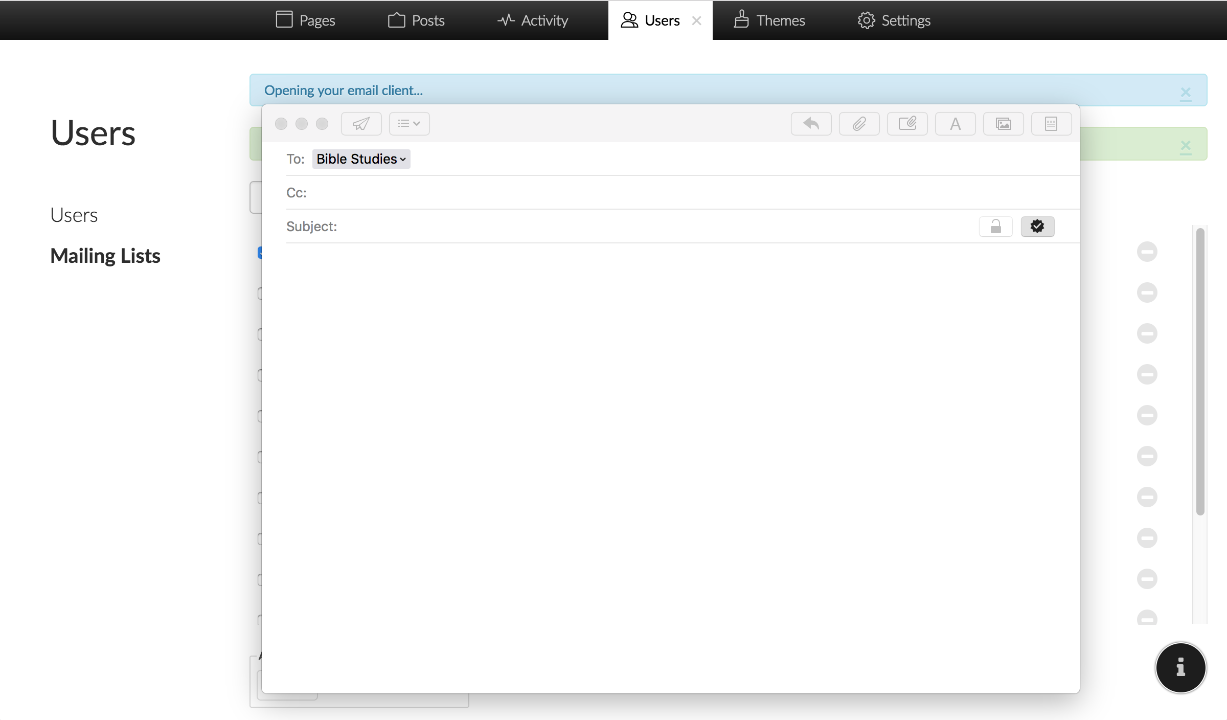 Screenshot of Email Relay Service