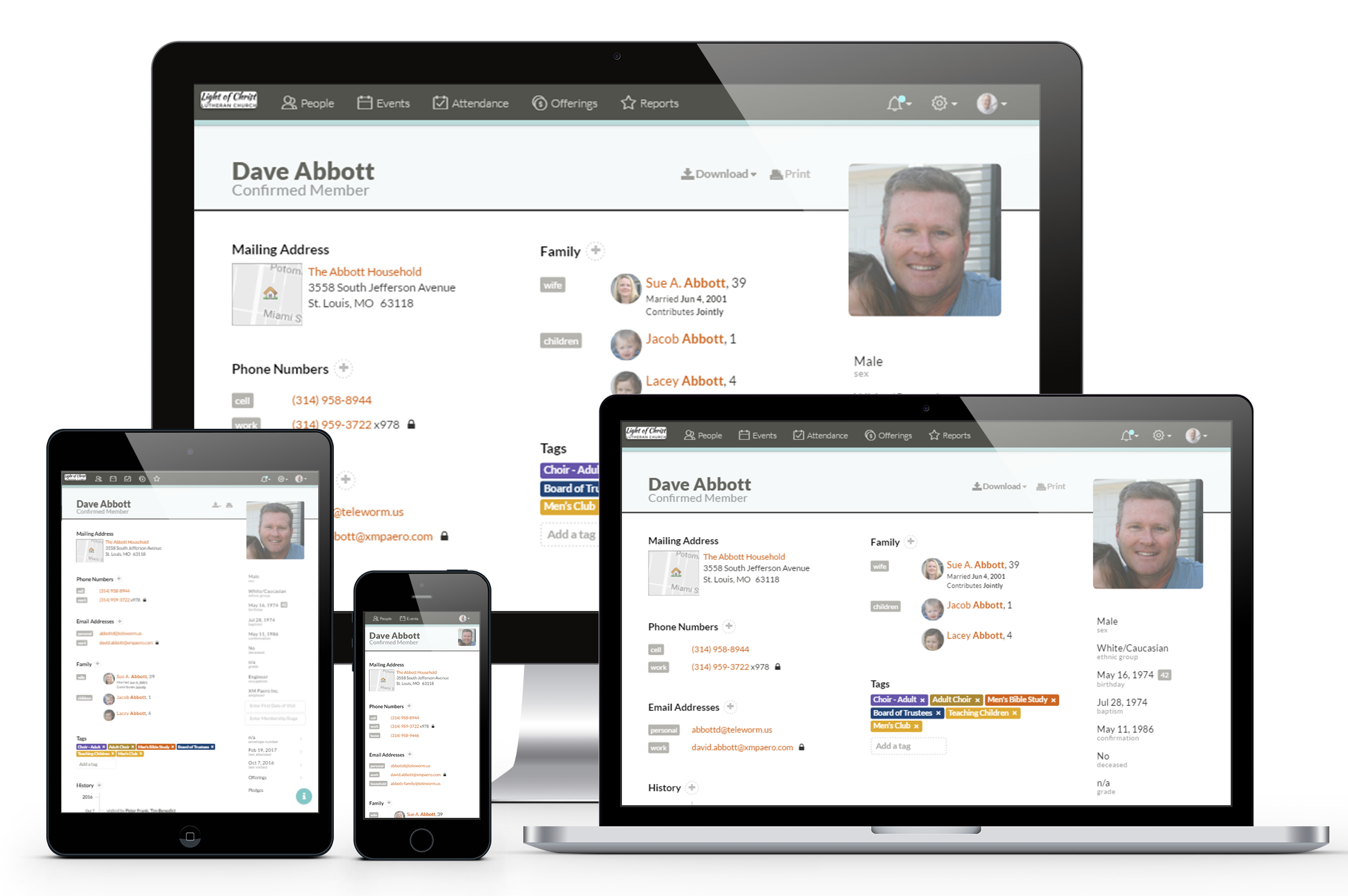 The ultimate flexibility in church management software.